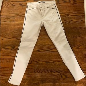 JBrand White With Navy Piping Jeans